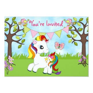 Invitaciones lindas del cumpleaños del caballo del invitación 12,7 x 17,8 cm