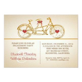 invitaciones lindas del fiesta de compromiso del invitación 12,7 x 17,8 cm