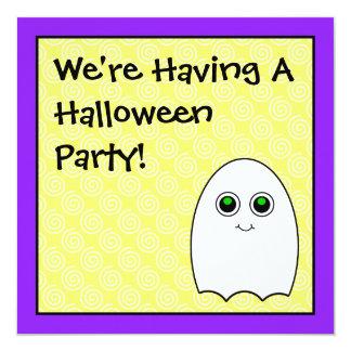 Invitaciones lindas del fiesta de Halloween del Invitación 13,3 Cm X 13,3cm