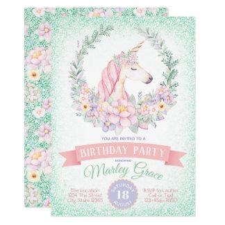 Invitaciones lindas rosadas de la fiesta de