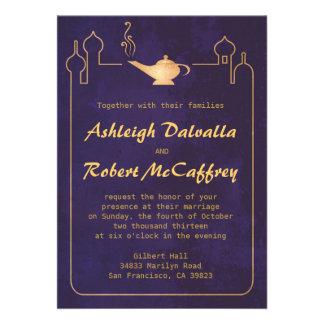 Invitaciones mágicas árabes del boda de la lámpara invitacion personalizada