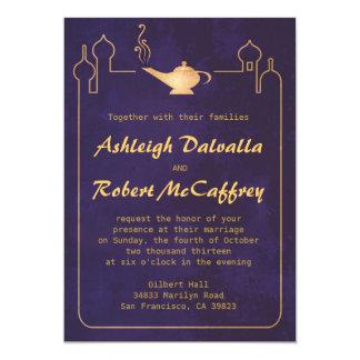 Invitaciones mágicas árabes del boda de la lámpara invitación 12,7 x 17,8 cm
