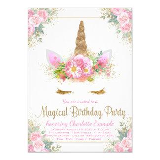 Invitaciones mágicas de la fiesta de cumpleaños de