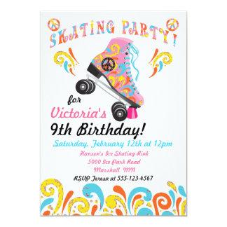 Invitaciones maravillosas del fiesta del patinaje invitación 12,7 x 17,8 cm