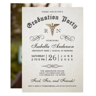 Invitaciones médicas de la graduación de la invitación 12,7 x 17,8 cm