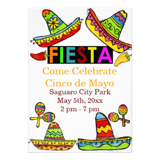 Invitaciones mexicanas de Cinco de Mayo de la fies Comunicado
