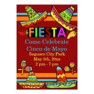 Invitaciones mexicanas de Cinco de Mayo de la fies Invitacion Personal