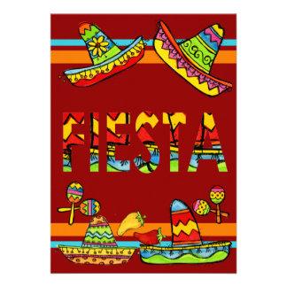 Invitaciones mexicanas de Cinco de Mayo de la fies