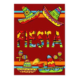 Invitaciones mexicanas de Cinco de Mayo de la Invitación 12,7 X 17,8 Cm