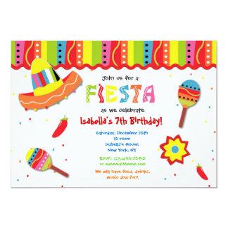 Invitaciones mexicanas de la fiesta de cumpleaños invitación 12,7 x 17,8 cm