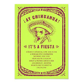 Invitaciones mexicanas de la parte invitación 12,7 x 17,8 cm