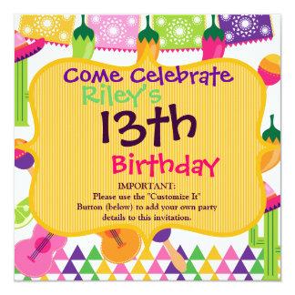 Invitaciones mexicanas del Saguaro del sombrero Invitación 13,3 Cm X 13,3cm