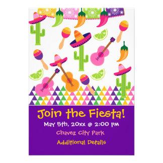 Invitaciones mexicanas del Saguaro del sombrero de
