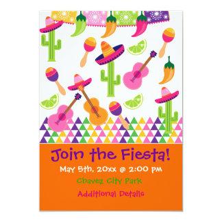 Invitaciones mexicanas del Saguaro del sombrero Invitación 12,7 X 17,8 Cm
