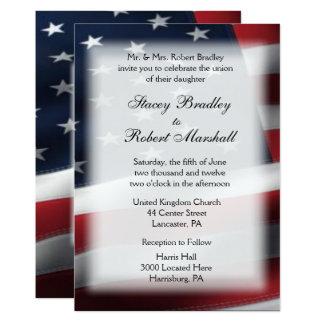 Invitaciones militares del boda del tema del boda