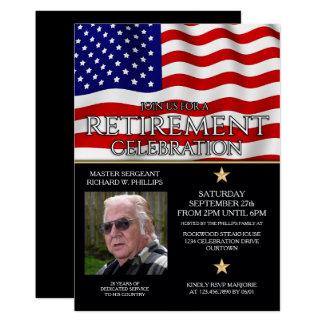 Invitaciones militares del fiesta de retiro