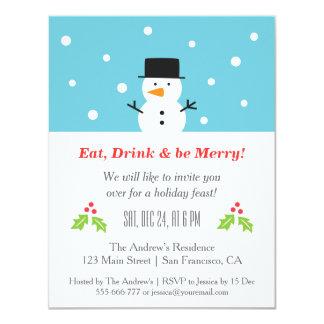 Invitaciones minimalistas de la fiesta de Navidad Invitación 10,8 X 13,9 Cm