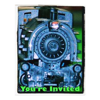 Invitaciones modelo del tren folleto 21,6 x 28 cm