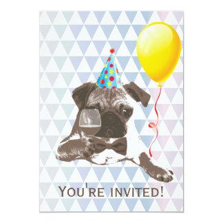 Invitaciones modernas de la fiesta de cumpleaños comunicados personalizados