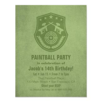 Invitaciones modernas de la fiesta de cumpleaños invitación 10,8 x 13,9 cm