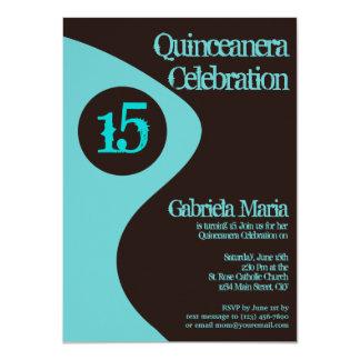 Invitaciones modernas de Quinceanera de la Anuncio Personalizado