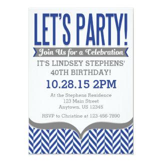 Invitaciones modernas del cumpleaños de la raspa invitación 12,7 x 17,8 cm