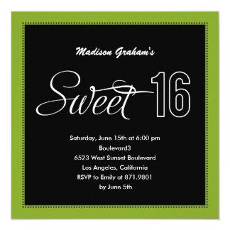 Invitaciones modernas del dulce 16 (color comunicado personal