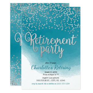 Invitaciones modernas del fiesta de retiro invitación 12,7 x 17,8 cm