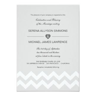 Invitaciones modernas grises y blancas del boda de invitación 11,4 x 15,8 cm
