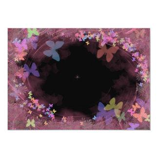 Invitaciones multicoloras de la mariposa invitación 12,7 x 17,8 cm