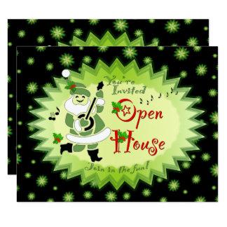 Invitaciones musicales de la casa abierta del invitación 10,8 x 13,9 cm