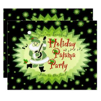 Invitaciones musicales del fiesta de pijama del