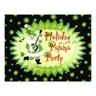 Invitaciones musicales del fiesta de pijama del invitación 10,8 x 13,9 cm