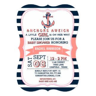Invitaciones náuticas de la fiesta de bienvenida comunicado personal