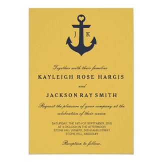 Invitaciones náuticas del boda el | que se casa