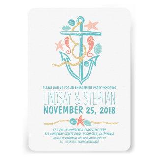 Invitaciones náuticas del fiesta de compromiso de