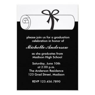Invitaciones negras de la celebración de la invitación 12,7 x 17,8 cm