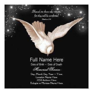 Invitaciones negras de la ceremonia conmemorativa invitación 13,3 cm x 13,3cm