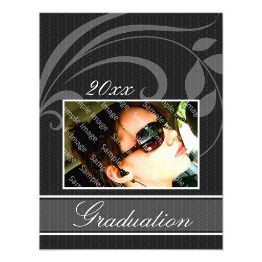 Invitaciones negras de la graduación del fiesta de comunicado ...