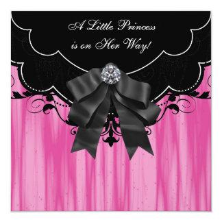 Invitaciones negras de la princesa fiesta de invitación 13,3 cm x 13,3cm