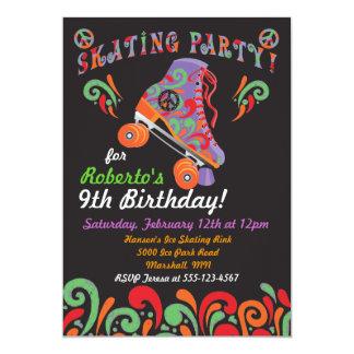 Invitaciones negras maravillosas del fiesta del invitación 12,7 x 17,8 cm