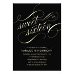 Invitaciones negras y beige del fiesta del dulce d invitación personalizada
