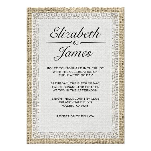 Invitaciones negras y blancas del boda de la arpil anuncio personalizado