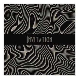 Invitaciones negras y impresión blanca del