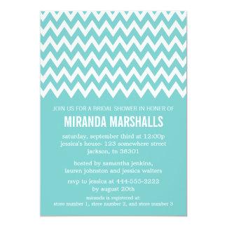 Invitaciones nupciales azules de la ducha de invitación 12,7 x 17,8 cm