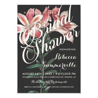 Invitaciones nupciales botánicas de la ducha del