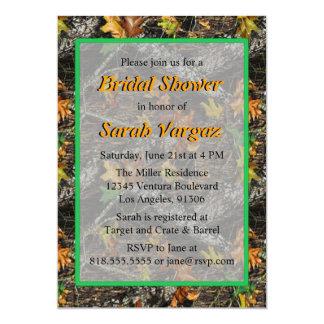 Invitaciones nupciales de la ducha de Camo Invitación 12,7 X 17,8 Cm
