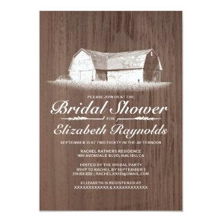 Invitaciones nupciales de la ducha de la granja invitación 12,7 x 17,8 cm