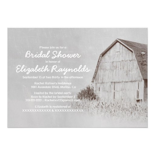 Invitaciones nupciales de la ducha de la granja de anuncio