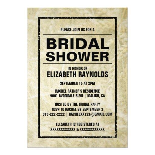 Invitaciones nupciales de la ducha de la granja oc comunicado personal
